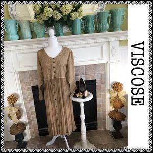 COPY - 💗Vintage💗 Viscose maxi dress, size M